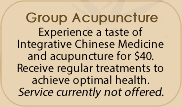 Group Acupuncture